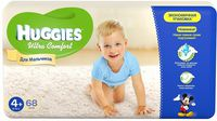 Huggies Ultra Comfort Giga Boy 4+ (10-16 кг.) 68 шт.