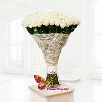 купить Розы 90 -100 см - белые - Поштучно в Кишинёве