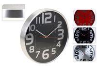 Часы настенные круглые D29.5cm, металл, разных цветов