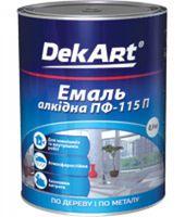 КРАСКА ЭМАЛЬ ПФ-115 DEKART, тёмно-серый