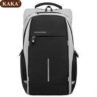 Рюкзак KAKA-2215, c отделением для ноутбука 15.6'', с USB портом,водонепроницаемый, cерый