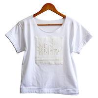Женская футболка с ручной вышивкой - Гербарий