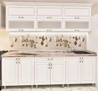 Кухонный гарнитур Bafimob Modern MDF 2.2m glass White