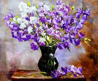 Pictura pe numere VGR 40x50 RA 3463 Buchet flori violete