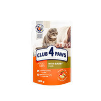 Club 4 Paws Premium с кроликом в желе 100gr