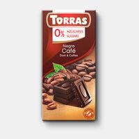 Шоколад темный с кофем без сахара без глютена Torras   75г