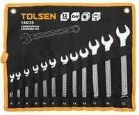 Набор комбинированных ключей в чехле 12 шт Tolsen
