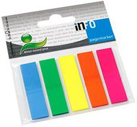 Info Notes Закладки клейкие INFO 12x44мм/5x25 листов, пластик