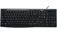 Keyboard Logitech K200 Multimedia, Thin profile, Quiet typing, Spill-resistant, Black, USB