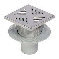 cumpără Sifon pardoseala vertical GRI dn110 PP (150 x 150mm - INOX) H reglab, ROTATING CAP - VISAM în Chișinău