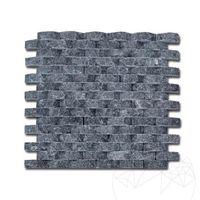 Мозаичный мрамор Черный овал Скульптурный 1,8 х 5 см