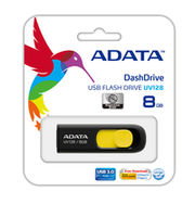 Flash Drive ADATA UV128, Black-Yellow 8Gb