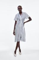 Платье ZARA Белый в полоску 8123/505/043