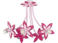 Светильник FLOWERS роз 5 сер-коричн 6896