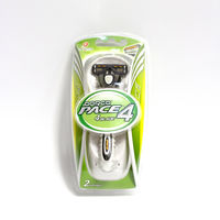 Бритвенная система с 4 лезвиями - Dorco Pace4 (ручка + 2 кассеты)