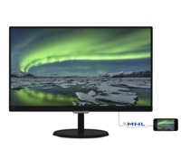 """21.5"""" Philips """"227E7QDSB"""", Black (IPS, 1920x1080, 5ms, 250cd, LED20M:1, DVI+HDMI+D-Sub, Audio-Out) (21.5"""" AH-IPS LED, 1920x1080 Full-HD, 0.248mm, 5ms GTG, 250 cd/m², DCR 20 Mln:1 (1000:1), 16.7M Colors, 178°/178° @CR>10, 30-83 kHz(H)/56-75 Hz(V), DVI-D, HDMI/MHL, Analog D-Sub, HDMI Audio-In, Headphone-Out, External Power Adapter, VESA mount 100x100 Fixed Stand (Tilt -5/+20°), EasySelect Menu Toggle Key, UltraNarrow Bezel, Black Glossy)"""