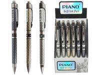 Ручка гелевая PS-007 soft ink 0.5mm синяя (1/24) серебристая