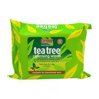 Салфетки для снятия макияжа Beauty Formulas  Tea Tree Cleansing Wipes , 30 шт