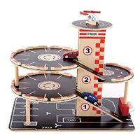 Hape Деревянная игрушка Гараж c четырьмя уровнями