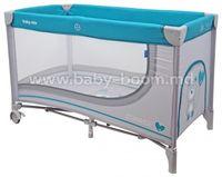 Baby Mix HR-8052-192 Манеж серый/голубой