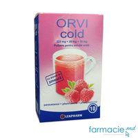ORVI cold cu aroma de zmeura pulb./sol. orala325 mg + 20 mg + 10 mg 10 g N10
