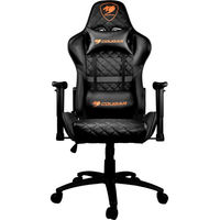 Gaming Chair Cougar ARMOR ONE Black, User max load up to 120kg / height 145-180cm