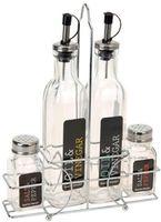 Аксессуар для кухни Excellent Houseware 27802 Менажница 4 ед масло/уксус/соль/перец), стекло/нерж