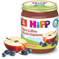 Hipp пюре яблоки и черника 4+мес. 125г