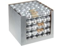 Набор шаров 6X60mm, серебряные (мат/глянц), в тубе
