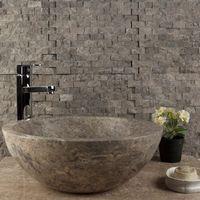 Mozaic Marmura Dark Emperador Scapitat 2.3 x 4.8 cm