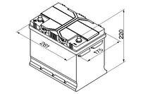 Bosch S4 12V 70Ah 630EN 271x175x220 +/-