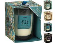 Свеча ароматизированная в стакане 9.5X8cm, 4 запаха, коробка