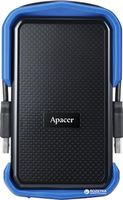 "2.0TB (USB3.1) 2.5"" Apacer AC631 Military-Grade Shockproof Hard Drive, Black-Blue (AP2TBAC631U-1)"
