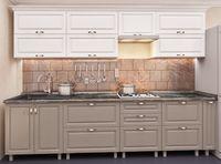 Кухонный гарнитур Bafimob Quadro MDF 3.0m +tandembox White/Cappuccino