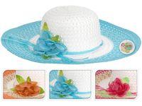 купить Шляпа женская летняя D42cm с цветком в Кишинёве
