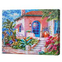 Алмазная мозаика + роспись по номерам 40х50 см Веранда YHDGJ75508