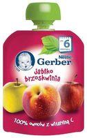 Gerber пюре яблоко персик, 6 мес, 90 гр