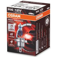 Лампа H4 Night Breaker Laser +130%, OSRAM 64193NBL