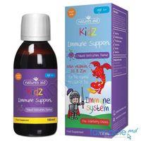 Immune Support cu Vit.C, D3 si Zinc 150 ml (6 ani+) Natures Aid