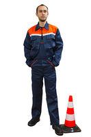 Костюм темно-синий 001 (куртка+полукомбинезон)