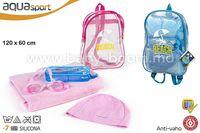 Color Baby 53780 Набор пляжный с полотенцем в рюкзаке в асс2
