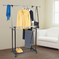 Вешалка стойка для одежды с выдвижными штангами Tatkraft ARTMOON TORONTO 699225