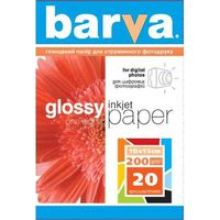 Бумага BARVA 4R 200g 20p Glossy