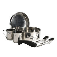 Набор посуды нерж Laken SS Cooking Set 20 cm, neoprene cover, cup, 8820FN