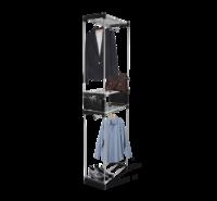 Вешалка гардеробная чёрный/ хром лак В1-77
