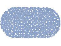 """Коврик для ванны 35X68cm """"Галька"""" овал, голубой, PVC"""