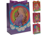 """Пакет для детских подарков """"Принцесса"""" 24X18X8сm"""