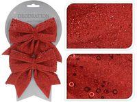 купить Банты декоративные 2шт 12X13сm, красные с блетсками в Кишинёве
