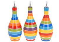 Бутылка для масла/уксуса 425ml, с разноцветными полос