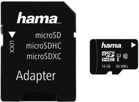 Сard de memorie Hama microSDHC 16Gb Class 10 UHS-I + Adapter (124138)